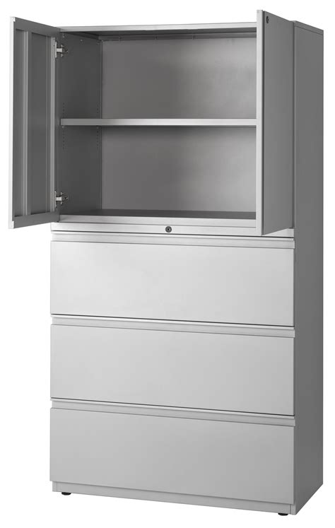 Lateral File With Storage Cabinet Storage Cabinet Lateral File Combination Cabinets Slfs