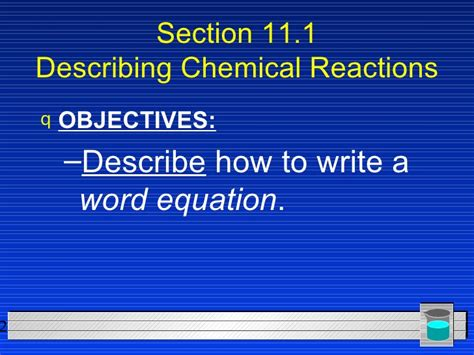 section 11 1 describing chemical reactions practice problems section 11 1 describing chemical reactions practice