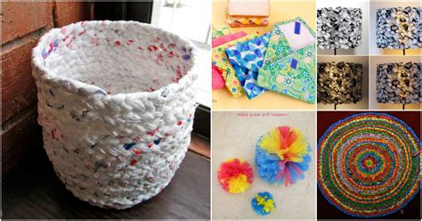 plastic crafts projects 30 amazing upcycling ideas to turn grocery bags into