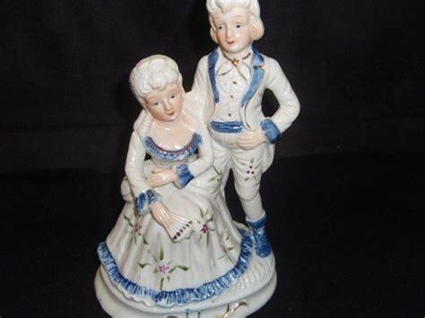 Antique Vintage Style Porcelain Blue White Canister Edwardian Cookie Jar Tea Bag Ebay Vintage Blue And White Style Figurine Of A And Porcelain Blue