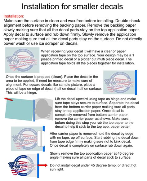 printable vinyl decal instructions how to install your new vinyl decal