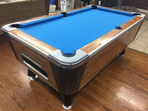 table 040217 valley used coin operated pool table used