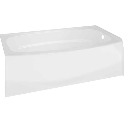delta bathtubs delta classic 400 curve 5 ft right drain soaking tub in