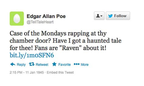 edgar allan poe biography cliff notes sparklife 187 what if your favorite dead author was on twitter