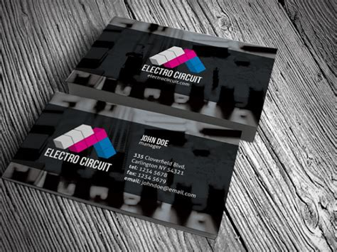 electronic card templates electrical electronics business card template 187 free