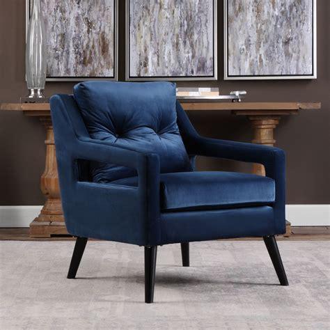 blue velvet armchair o brien blue velvet armchair 23318 uttermost