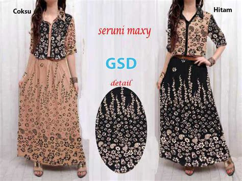 Dress Katun Import Fashion Wanitamaxi Dress 9 seruni maxi grosir tanah abang baju import murah
