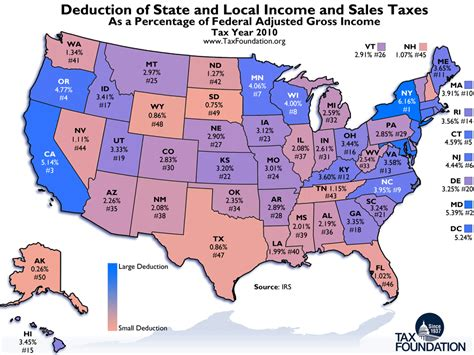 Ny State Property Tax Records Monday Map State And Local Tax Deductions Tax Foundation