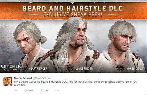 beard and hairstyles witcher 3 witcher 3 haircut beard growth haircuts models ideas