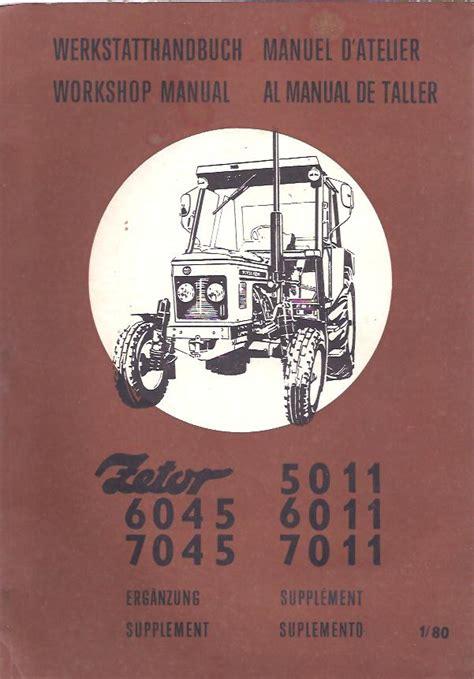 Zetor 5011 Service Manual Auto Izbor