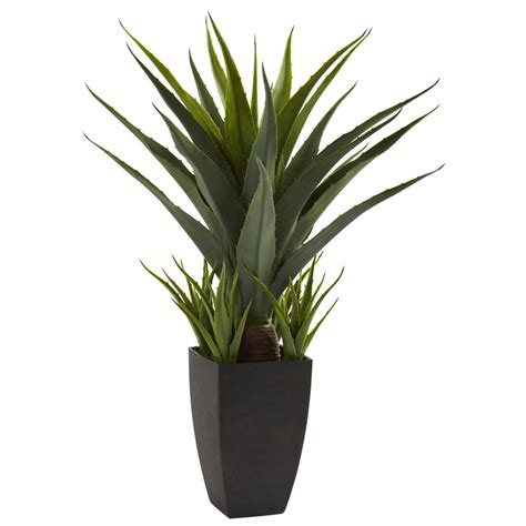 large realistic artificial silk fake agave tropical floor
