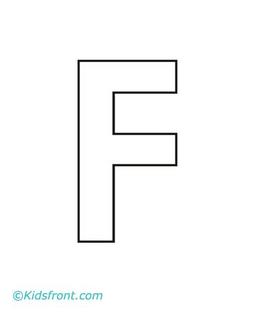 alphabet f coloring pages printable