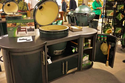 big green egg large table stainless steel top  woodworking