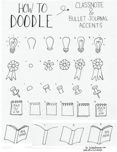 doodle calendar tutorial how to draw bullet journal doodle note accents part 1