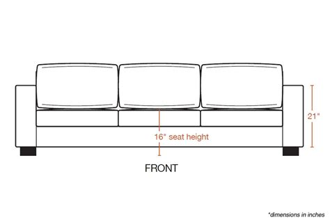 standard couch height rio sofa xl viesso