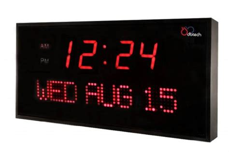 ivation clock dbtech big oversized digital red led calendar clock with