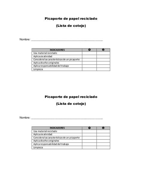 rubrica para evaluar proyectos de reciclado rubrica para evaluar proyectos de reciclado