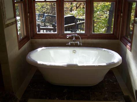 free standing tub traditional bathroom cleveland