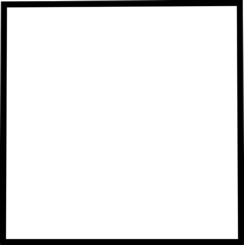 Black Outline Square by The Gallery For Gt White Rectangle Outline Png
