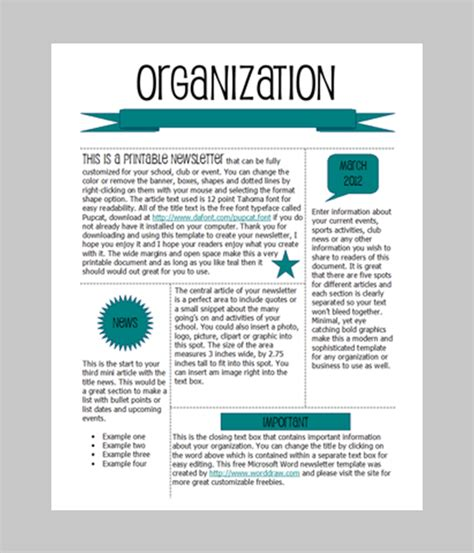 newsletter layout templates free word newsletter template 31 free printable microsoft