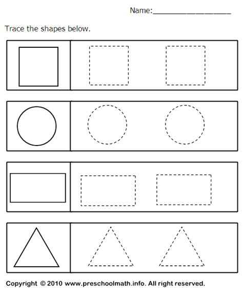 printable tracing shapes worksheets tracing geometric shapes worksheet table time pinterest