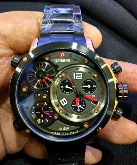 Jam Tangan Pria Expedition E6742 Rosegold Black Original jual jam tangan pria expedition 6706 time baru jam tangan expedition terbaru murah