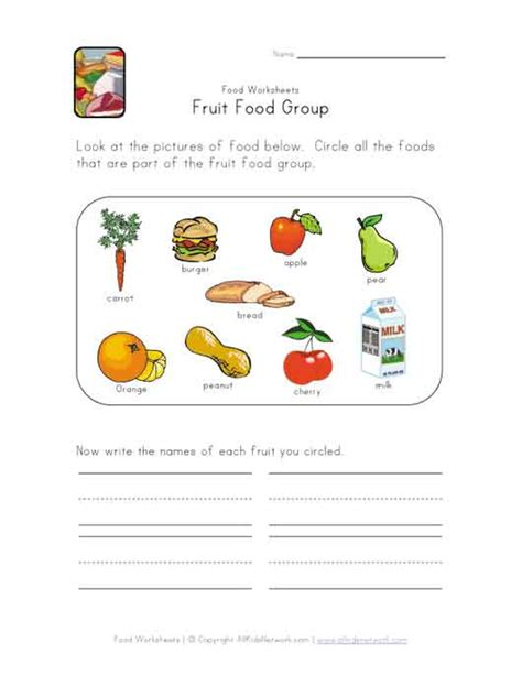 guess my word 35 food items worksheet free food groups worksheets for preschool food craft gallery page
