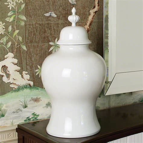 white ginger jar beaufort ginger jar white large