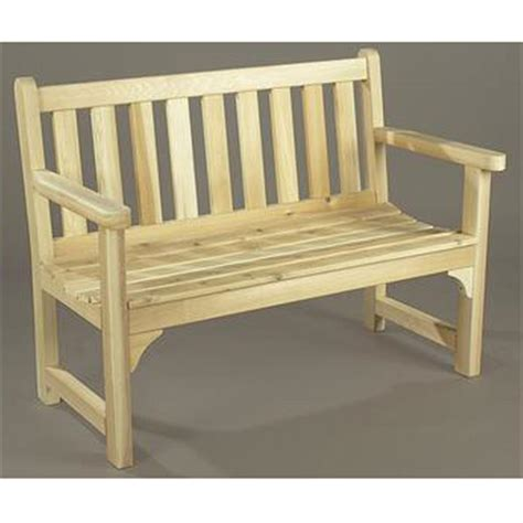 Unfinished Patio Furniture with Rustic Cedar Unfinished Garden Settee 200448 Patio Furniture At Sportsman S Guide