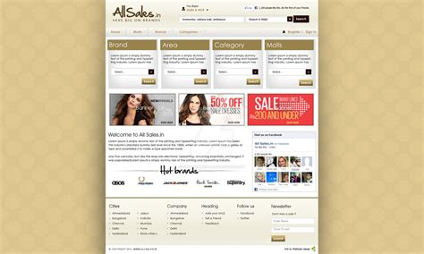 Home Page Design Sles | all sales home page design ver 1 by vatandhingra on deviantart