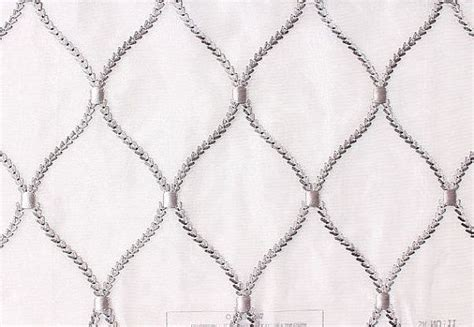 diamond pattern net curtain custom curtains in sheer white with silver gray in round
