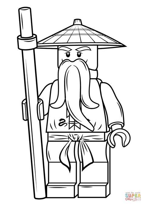 lego ninjago sensei wu coloring pages lego ninjago sensei wu coloring page free printable