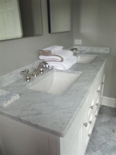 Marble Countertop For Bathroom by Marble Counter Top Traditional Bathroom New York