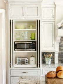 Kitchen Microwave Cabinets Microwave Cabinet Transitional Kitchen Bhg