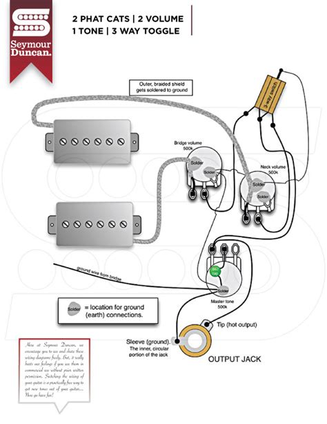 guitar wiring diagrams 2 humbucker 3 way toggle switch