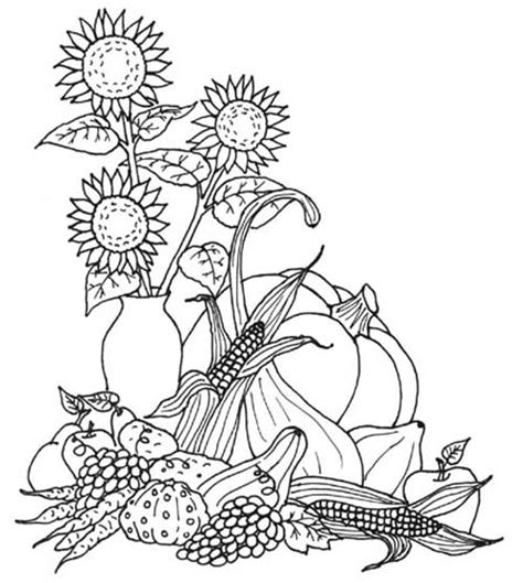 free coloring pages of harvest pictures