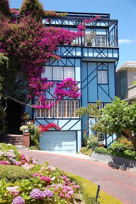 lombard street houses blue house on lombard street san francisco dream home pinterest beautiful the o jays and