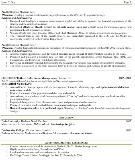 exles of two page resumes exle resume page resume exle