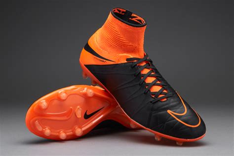 Sepatu Bola Nike Hypervenom Silver Putih List Gold Grade Ori sepatu bola nike hypervenom phantom ii leather fg black orange