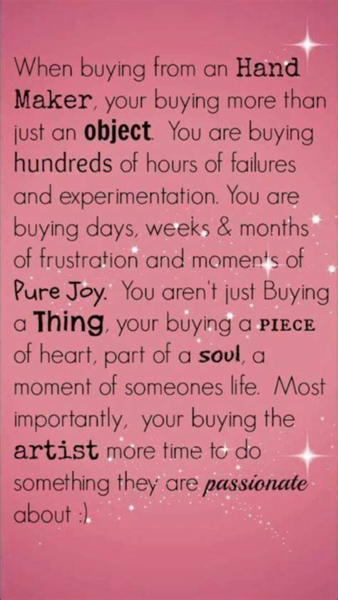 Buying Handmade - gift quotes image quotes at relatably