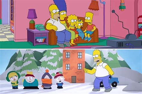 All Simpsons Gags by The Simpsons Takes Aim At Rival South Park With