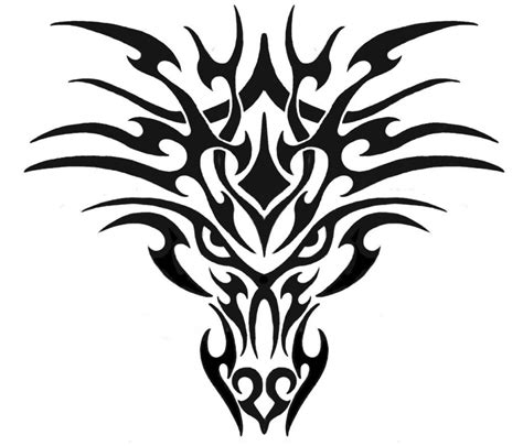 tribal dragon head tattoos tribal designs the is a canvas