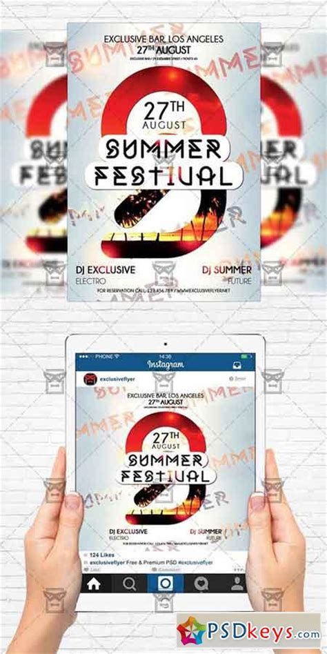 Summer Festival Flyer Template Instagram Size Flyer 187 Free Download Photoshop Vector Stock Instagram Flyer Template