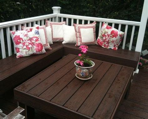 built in bench on deck built in bench on deck table diy ideas pinterest a