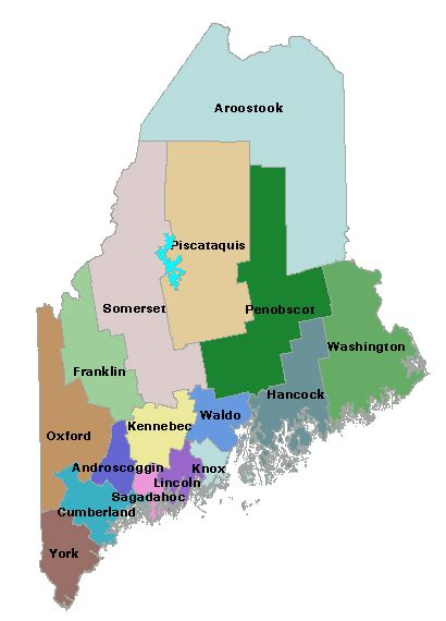 maine map with counties maine of state maine government counties