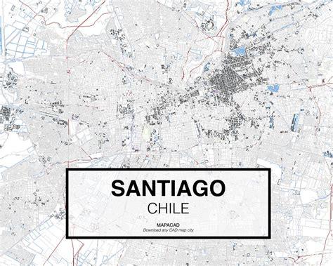 south america map dwg santiago dwg mapacad