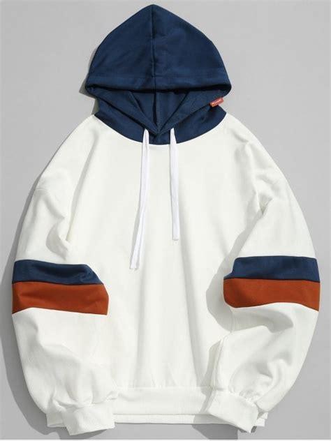 Hoodie I L Jidnie Clothing pockets color block hoodie clothes white hoodies