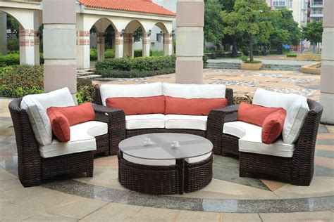 Exterior Patio Furniture Fiji Curved Outdoor Resin Wicker Patio Sectional