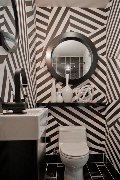 black and white striped bathroom black and white stripes breeze giannasio interiors