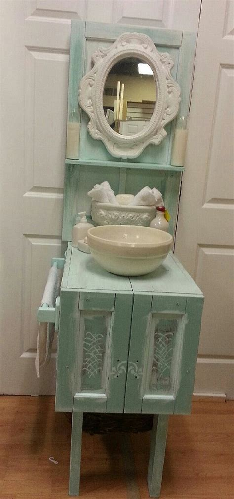 shabby chic cottage chic one of a kind bathroom vanity or gardening